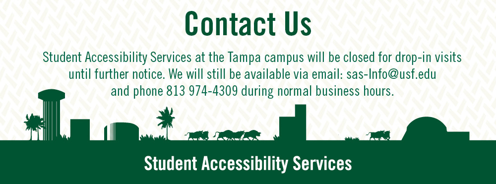 Student Accessibility Services Fall 2020 Contact Information