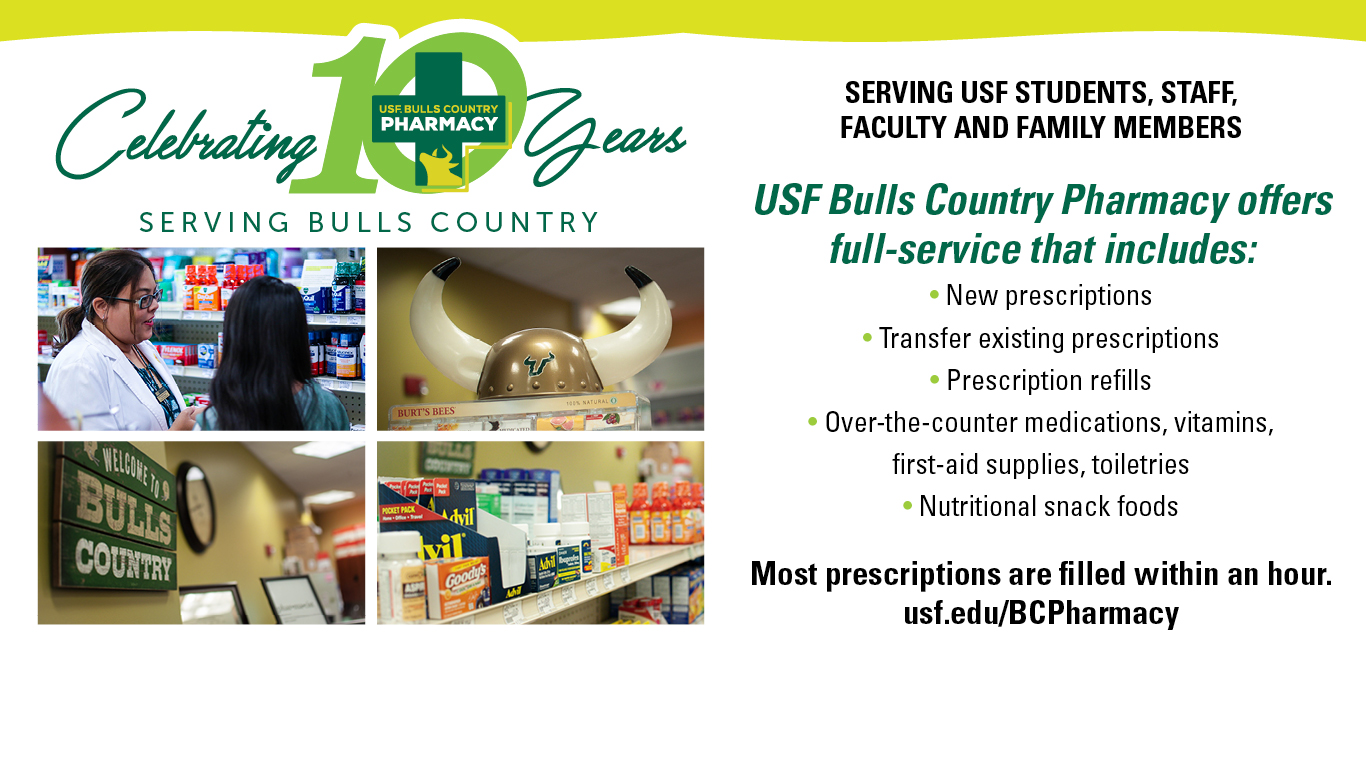 USF Bulls Country Pharmacy serving students and employees