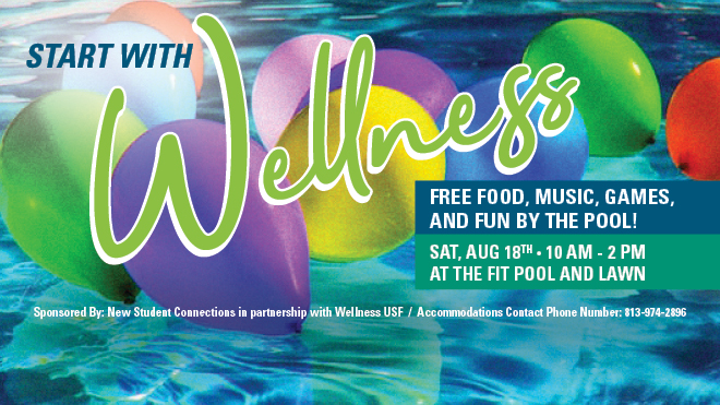 Saturday event: Start with Wellness 10-2 at The FIT