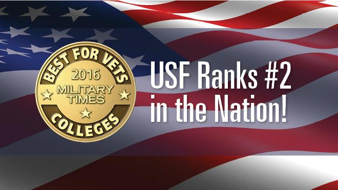 USF Ranks #2 in the Nation! 2016 Military Times Best for Vets Colleges