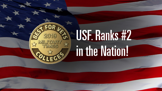 USF is #2 Best for Vets College in the Nation