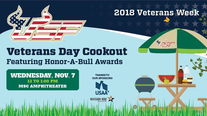 Veterans Day Cookout Featuring Honor-A-Bull Awards