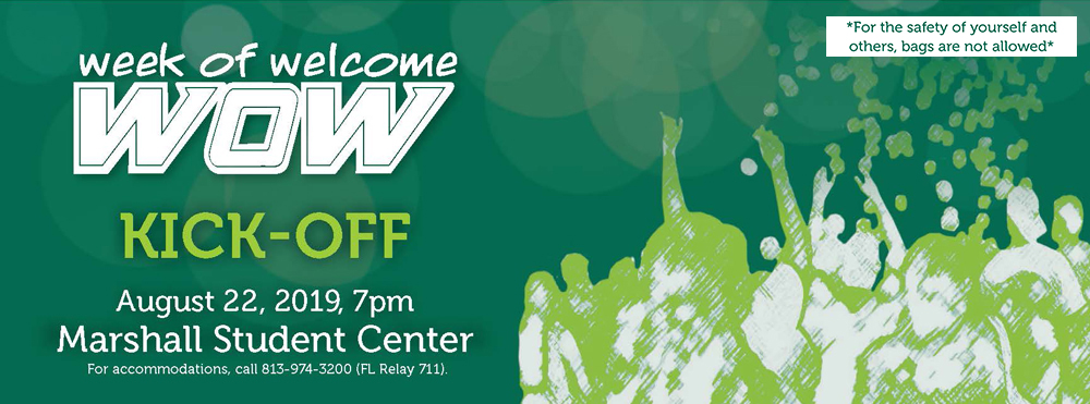 Week of welcome kickoff event at 7pm in the msc