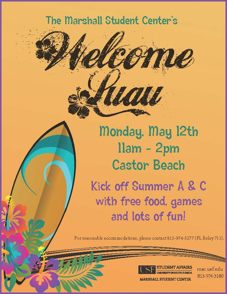 summer luau invitation - May 12, 2014