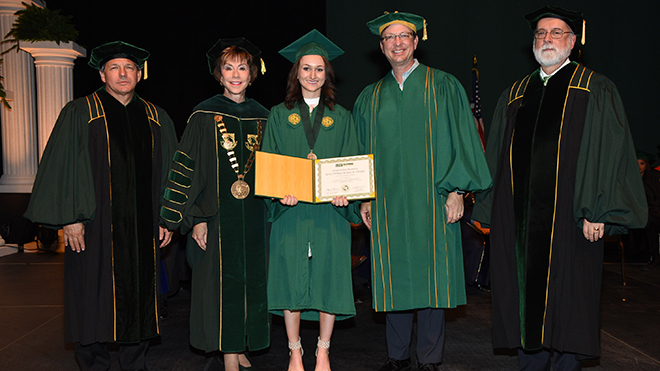 USF student receives award at Commencement