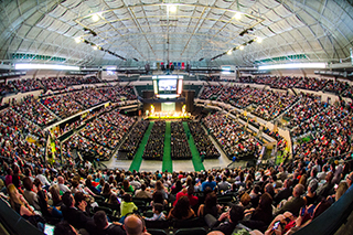 Inside shot of Commencement at Sun Dome