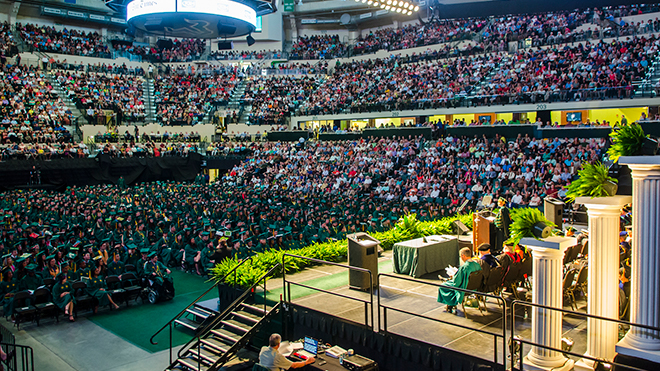 Inside the USF Sundome on Commencement