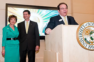USF President Judy Genshaft and her husband, Steven Greenbaum