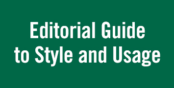 Download Editorial Guide to Style and Usage