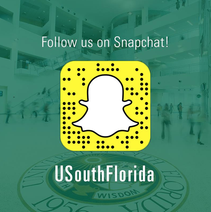 Follow us on Snapchat! USouthFlorida