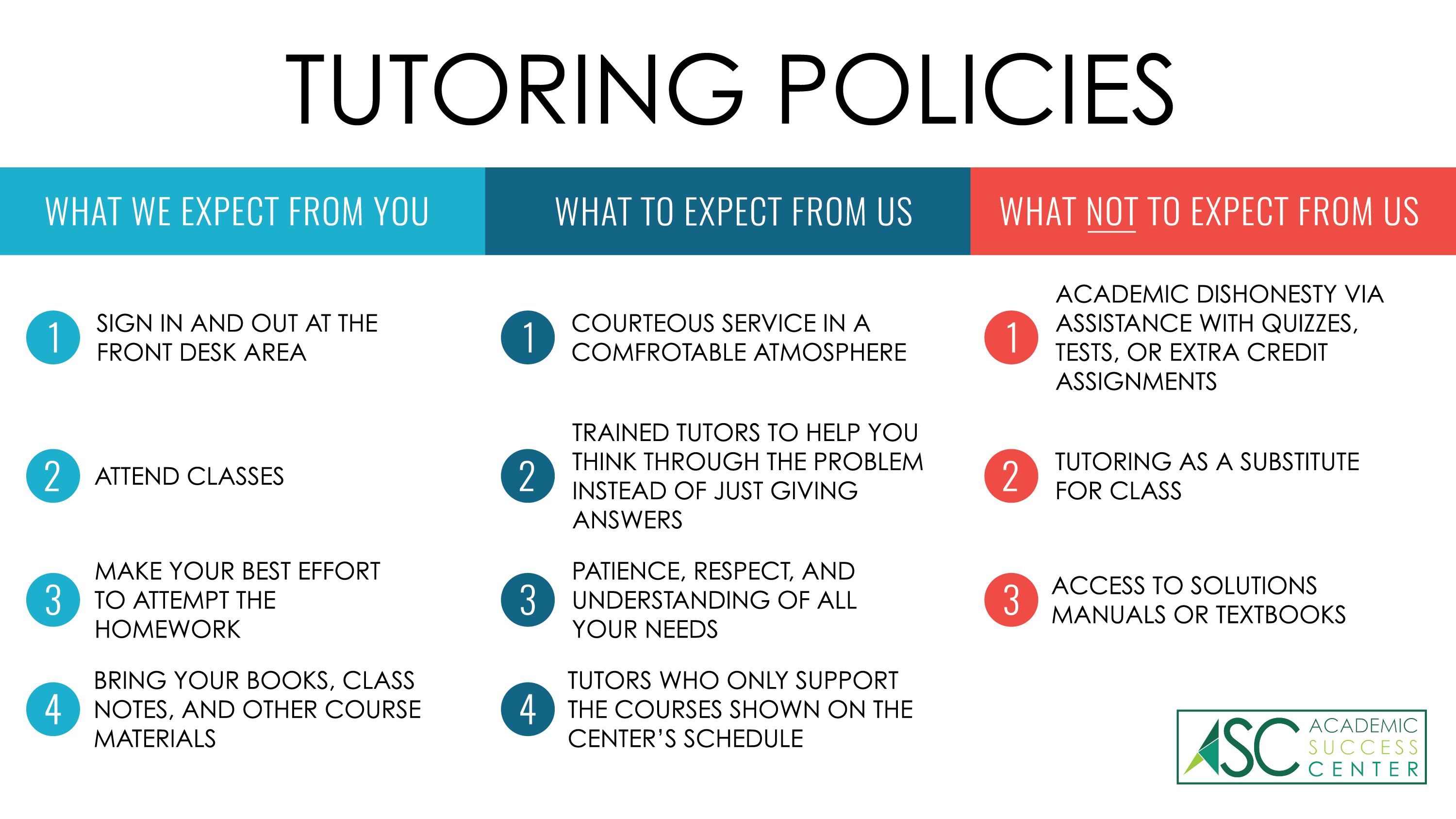 Tutoring Policy