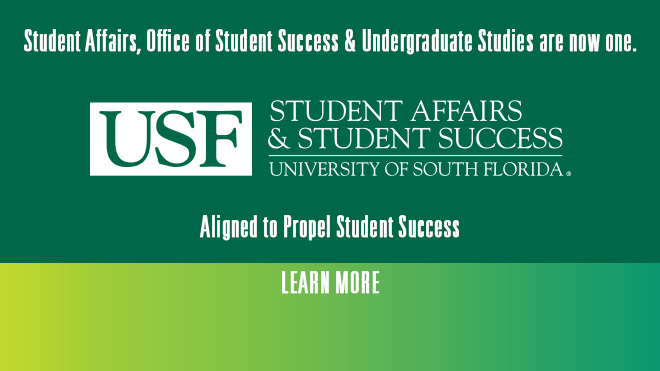 Student Affairs, Office of Student Success & Undergraduate Studies are now one.