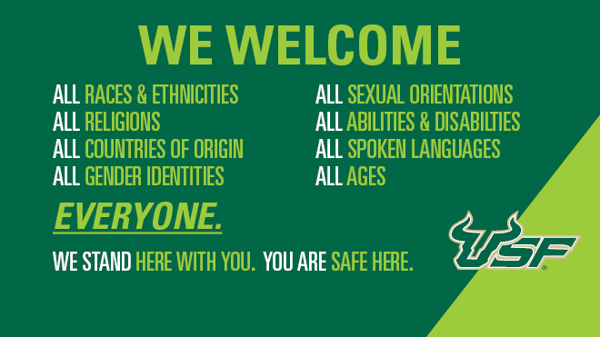 We welcome everyone