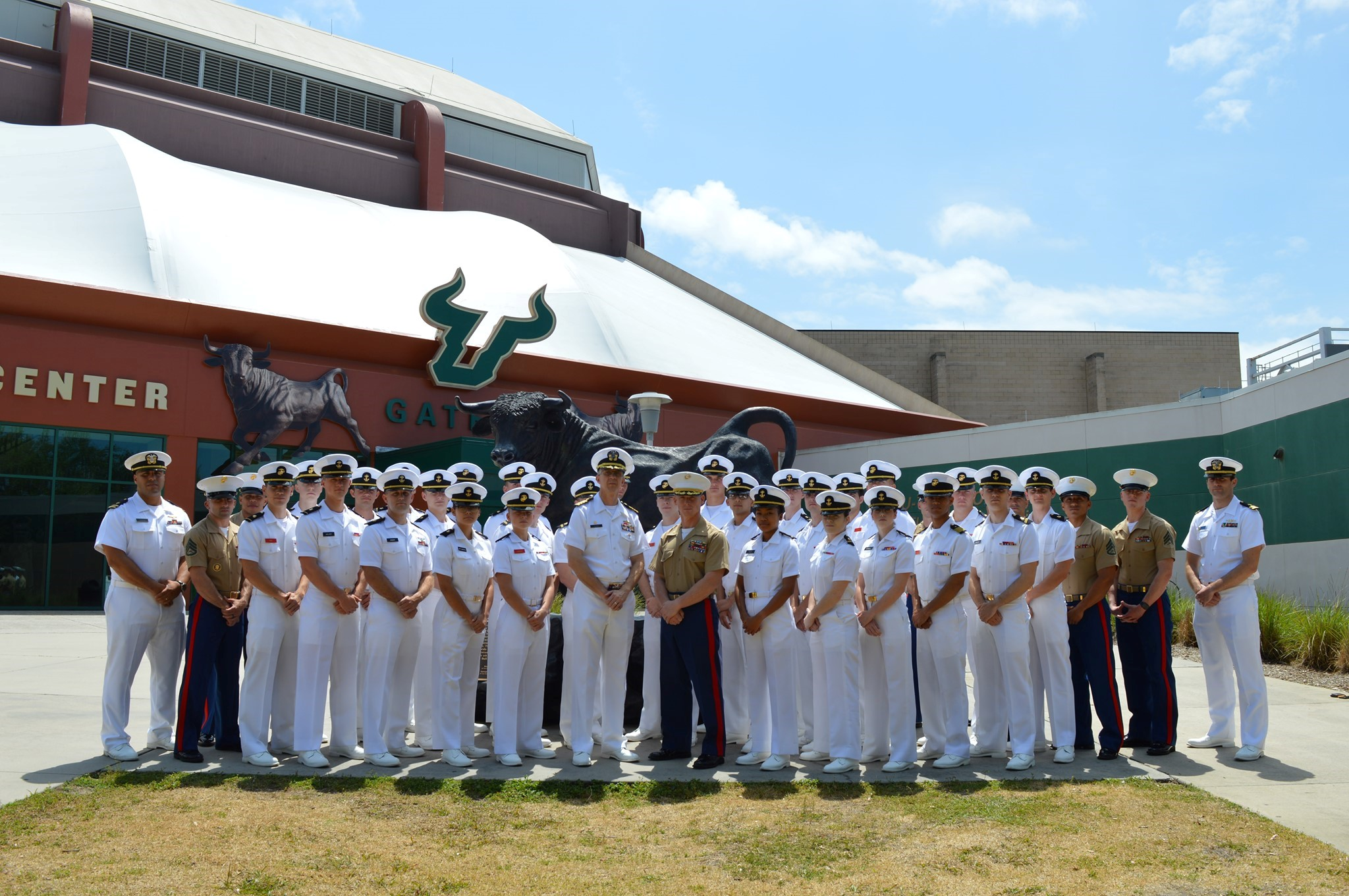 photo of group of Naval ROTC midshipmen