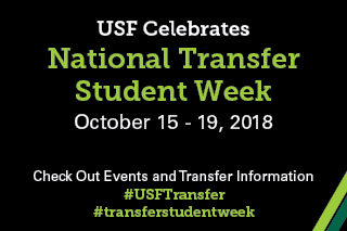 Natuional Transfer Student Week October 15 - 19, 2018