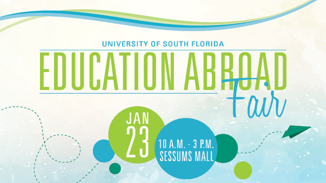 USF Education Abroad Spring Fair on January 23