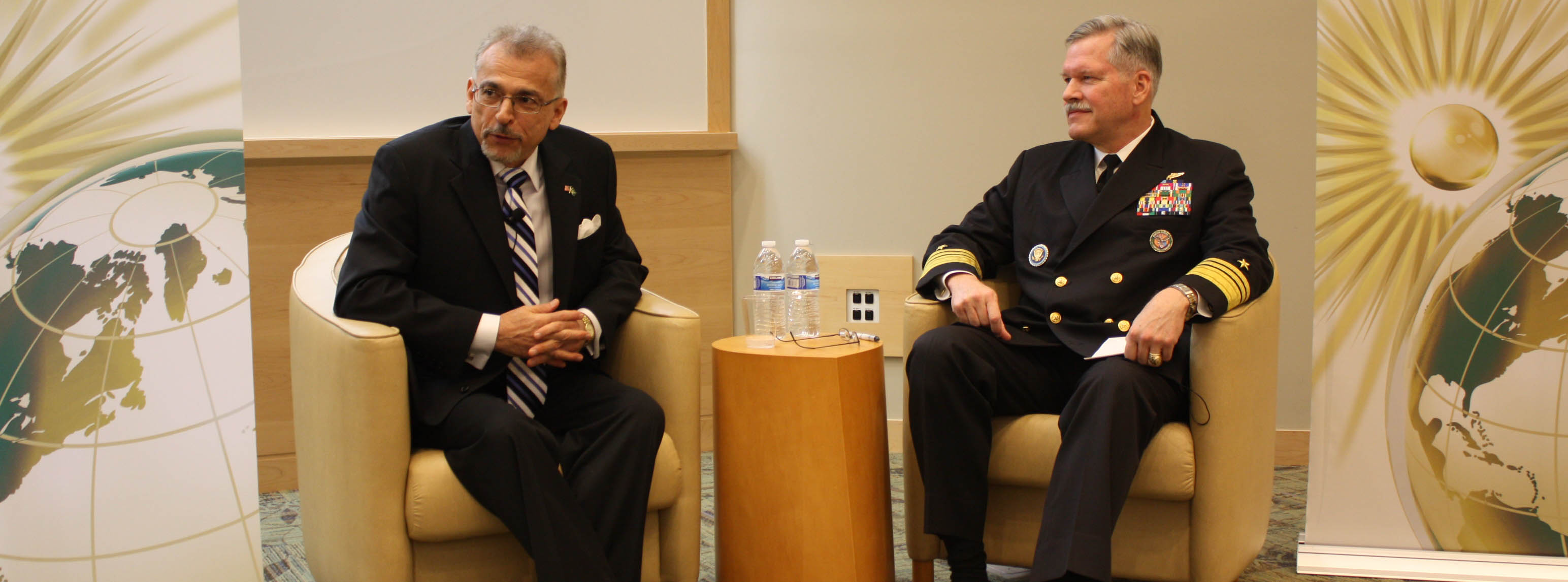 Dr. Mohsen Milani and Admiral Fox