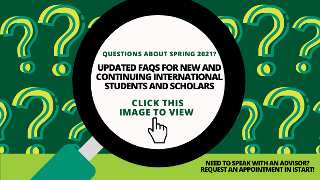 Updated FAQs for New and Continuing International Students and Scholars