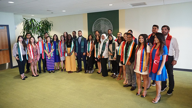 International Student Sash Ceremony