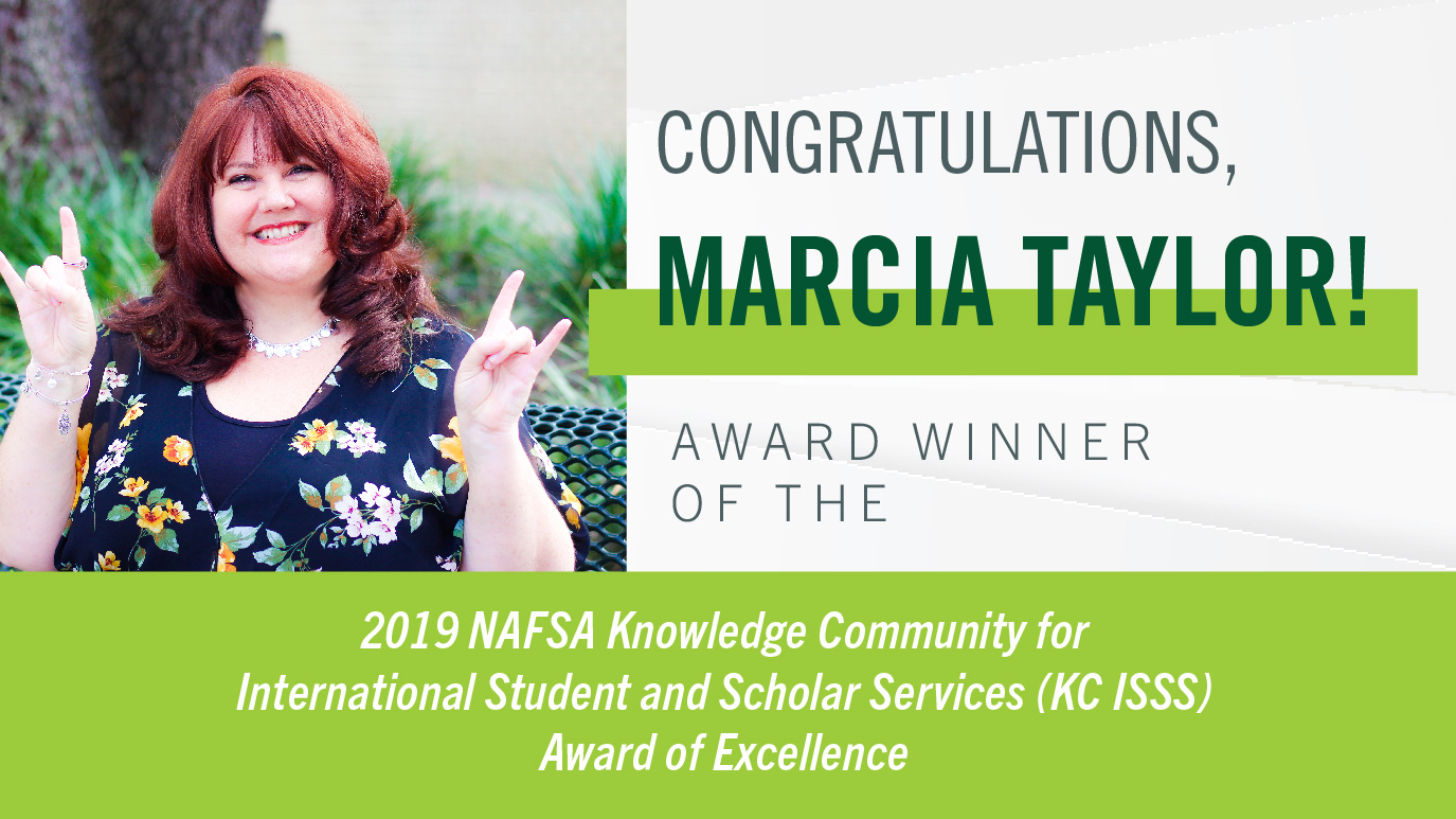 Marcia Taylor 2019 NAFSA Award, USF World