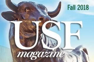 Cover art for Fall2018 USF Magazine.