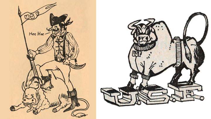Early Drawings of Rocky the mascot