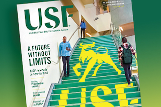 Cover art for Winter 2018 USF Magazine.
