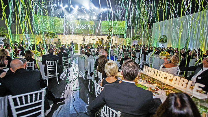 USF celebration at Amalie Arena for reaching $1 billion goal