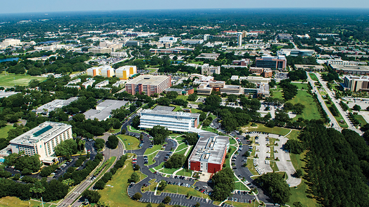 Aerial view of the USF Research Park