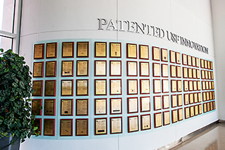 Picture of USF's patent wall