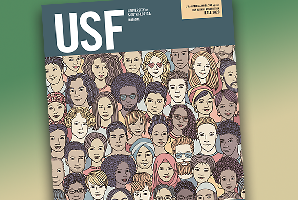 Fall 2020 issue of USF Magazine