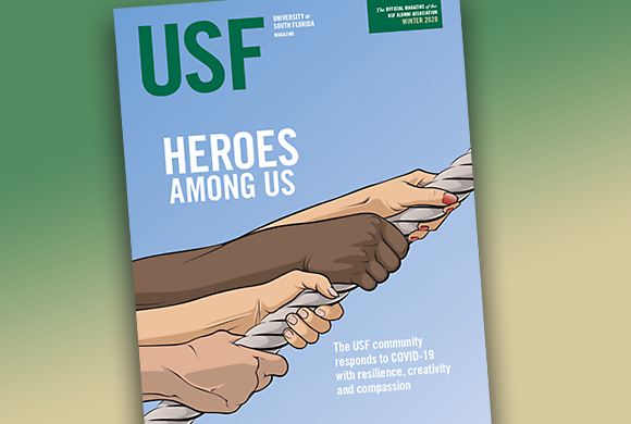 Winter 2020 issue of USF Magazine