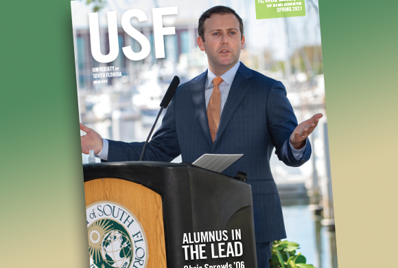 Spring 2021 issue of USF Magazine
