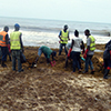 Clearing sargassum Sierra Leone Envirionment Protection Agency