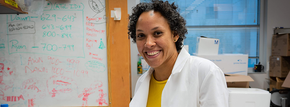 Karyna Rosario, PhD, who graduated from USF in 2010, was a recipient of the Bridge to the Doctorate fellowship. She now works as a research scientist in the marine genomics lab run by Mya Breitbart, PhD.