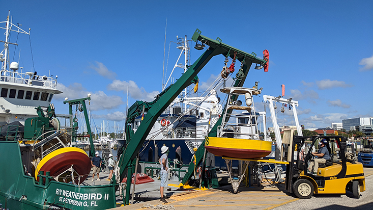 Loading the R/V Weatherbird II