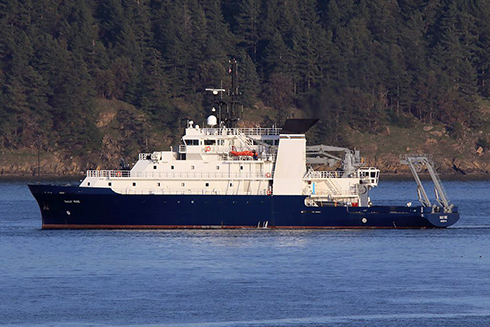 A research ship, the RV Sally Ride