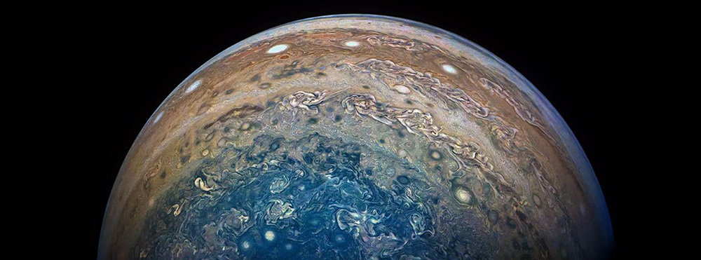 The planet Jupiter. NASA/JPL-Caltech/SwRI/MSSS/Gerald Eichstadt/Sean Doran