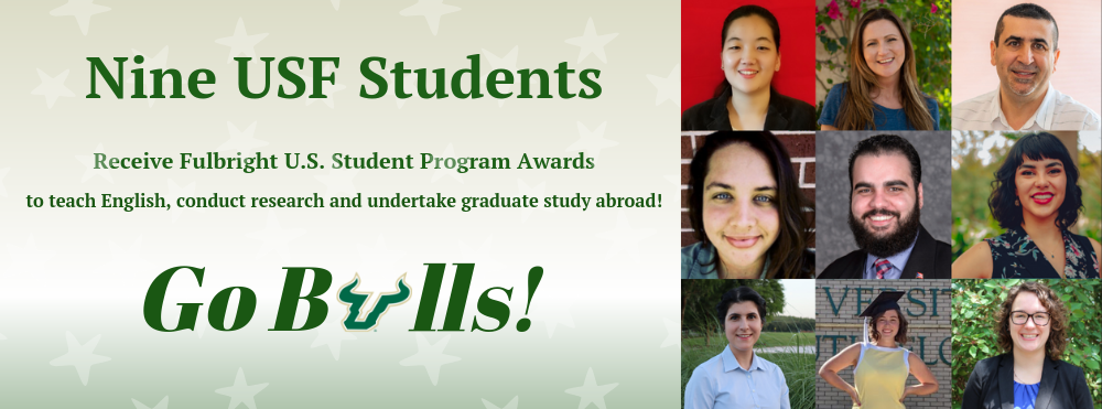 Nine USF Students Receive Fulbright U.S. Student Program Awards