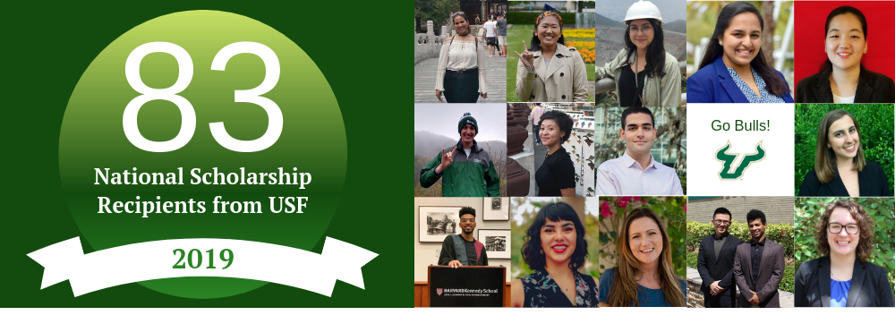 Congratulations to the 2019 USF National Scholarship Recipients!