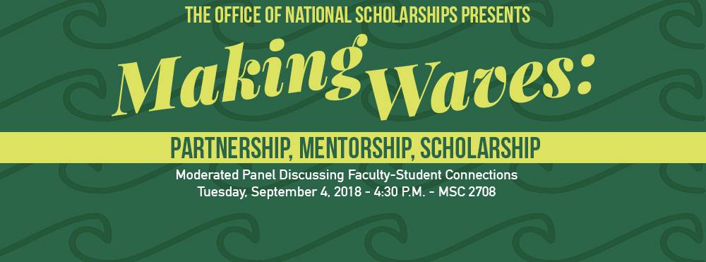 Making Waves: Partnership, Mentorship, Scholarship event will be held Tuesday, Sept. 4!