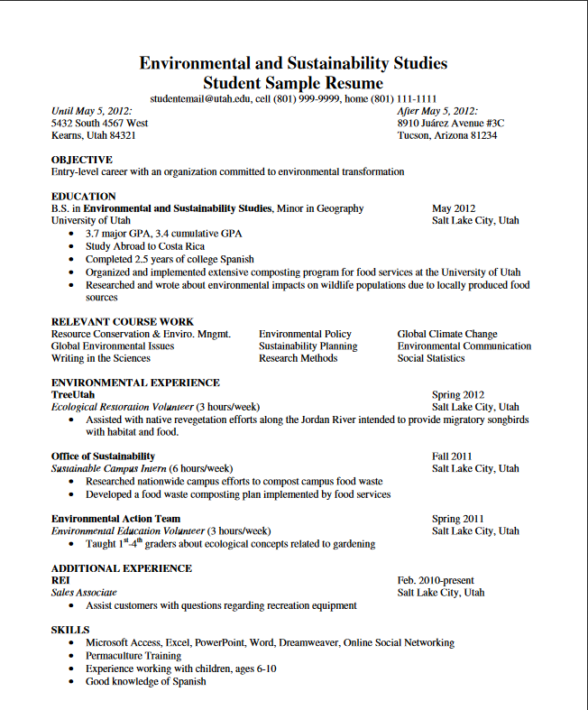 Web Tester Resume Sample: Student Development Series