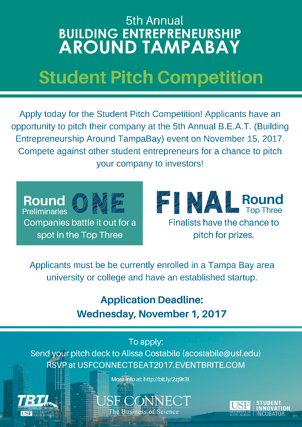 5th Annual B.E.A.T. Student Pitch Competition Flyer
