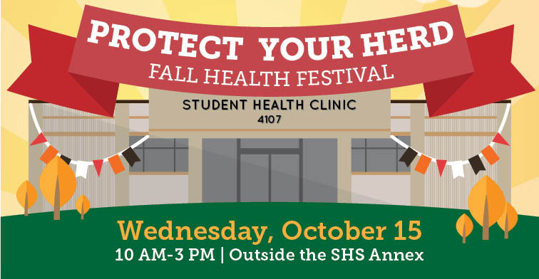 Protect your herd fall festival. free flu shots and sti testing October 15, 2014 from 10 am to 3 pm.