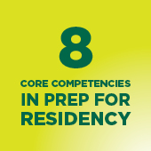 8 core competencies in prep for residency