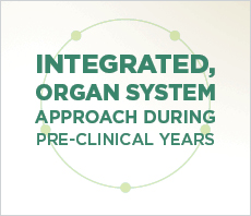 Integrated, organ system approach during pre-clinical years